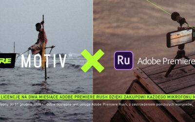 Uzyskaj dwa miesiące licencji Adobe Rush!