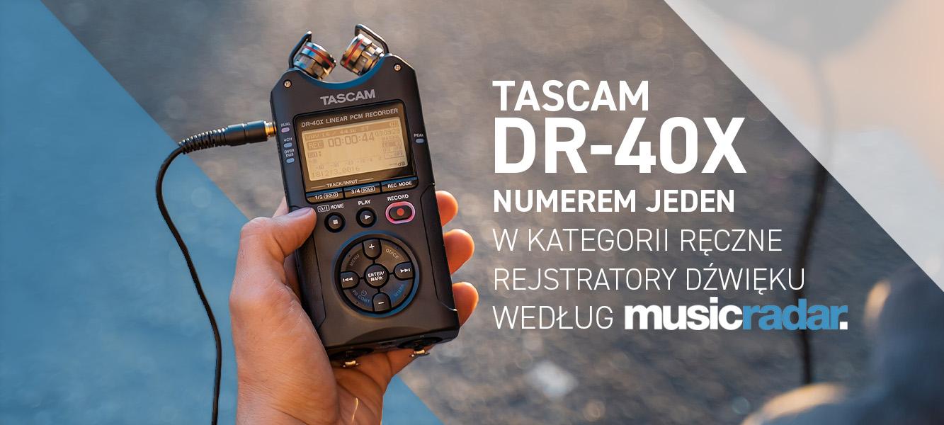 TASCAM DR40X najlepszym ręcznym rejestratorem dźwięku!