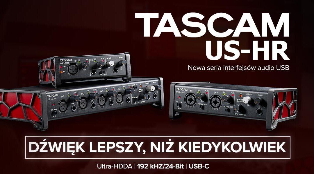 3 nowe interfejsy audio Tascam zserii US-HR