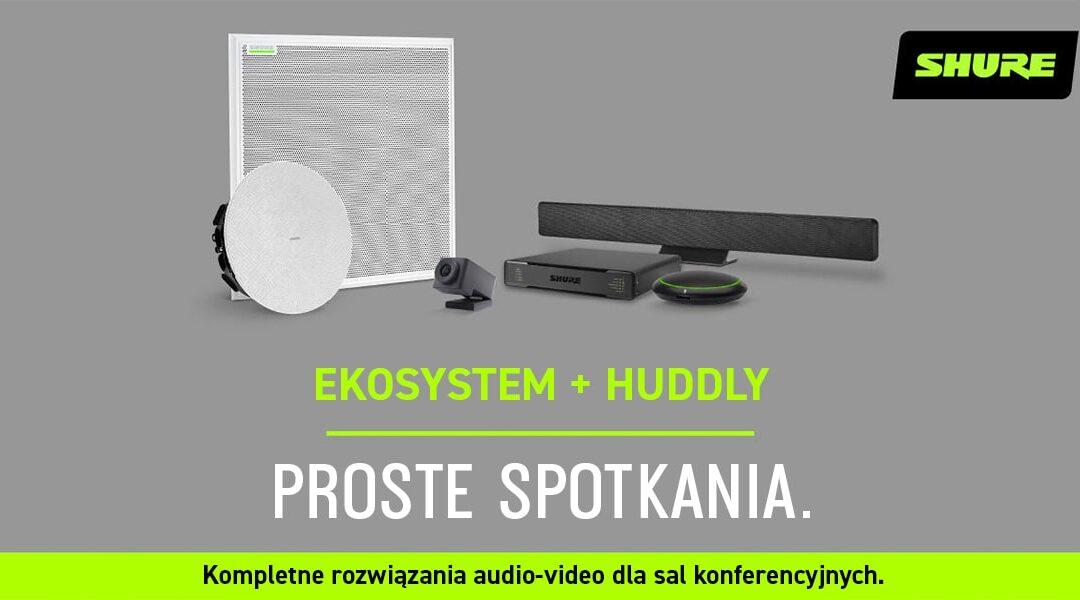 Shure + Huddly: Kompletne rozwiązania Audio-Video