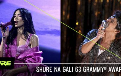 Mikrofony Shure nagali 63 Grammy® Awards