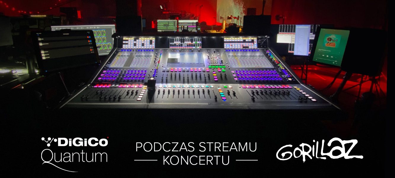 DiGiCo Quantum 7 podczas streamu koncertu Gorillaz