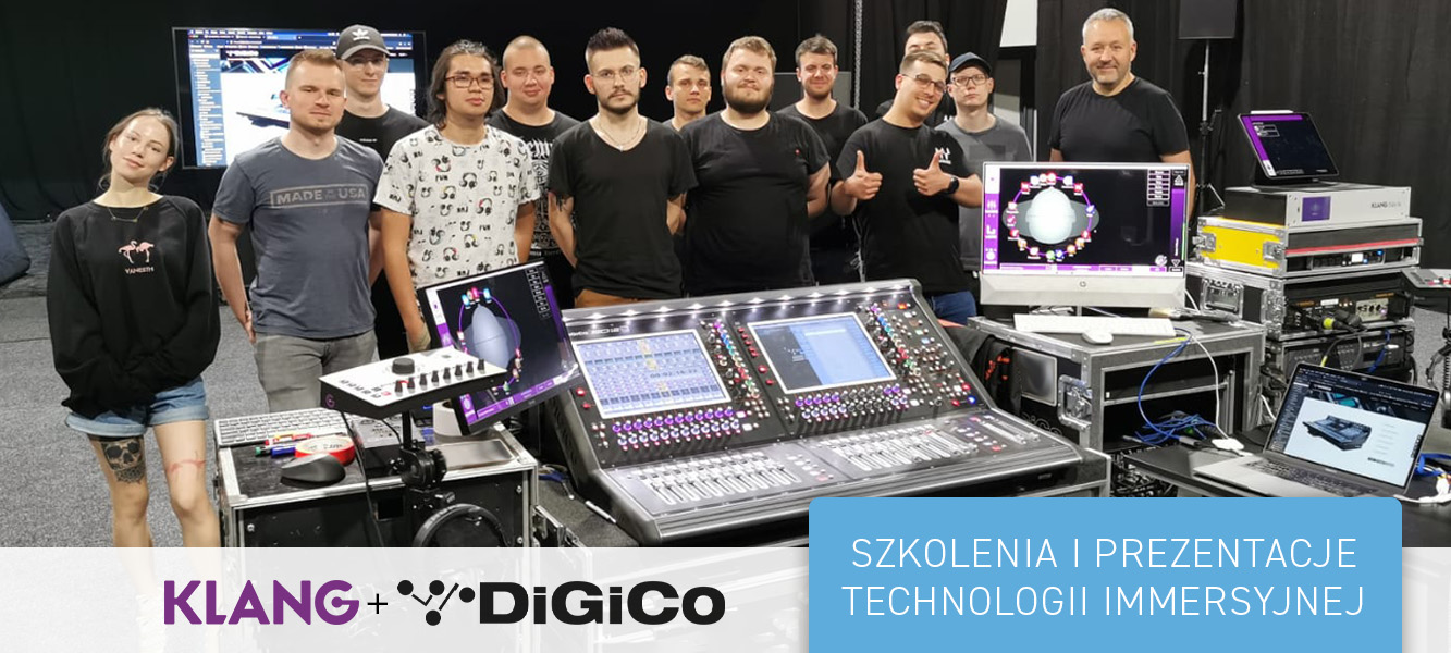 Szkolenia iprezentacje technologii immersyjnej – Klang + DiGiCo